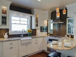 Classic Kitchen Backsplash Glass Subway Tile Kitchen Backsplash Laminated Kitchens Island