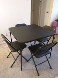 cosco 5 piece card table set black cosco 5 piece folding table chair set black furniture in