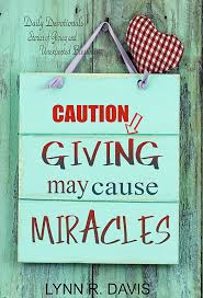 r davis books giving may cause miracles prayer diary and