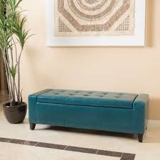 Storage Ottoman Bench Guernsey Faux Leather Storage Ottoman Bench By Christopher