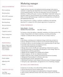 Brand Manager Resume Sample by Professional Manager Resume 49 Free Word Pdf Documents