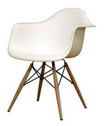 White Plastic Dining Chair Wood Leg White Seat Dining Arm Chair Dining Chairs At