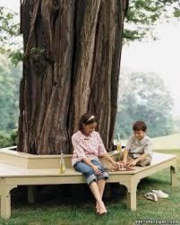 Circular Bench Around Tree Oak Garden Benches Foter
