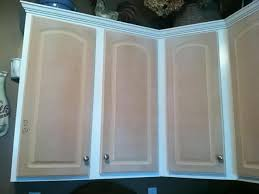 how to fix peeling thermofoil cabinets the fabulous food fairy s diy kitchen cabinet transformation on a