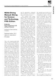 noaa diving manual diving for science and technology fifth