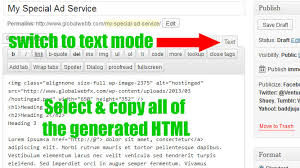 format html sed how to create craigslist html ads with wordpress