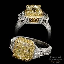 fancy yellow diamond engagement rings michael beaudry jewelry gorgeous 2 69ct fancy yellow