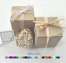 bird seed favors heart wedding favors bird seed recycled brown gift boxes set of