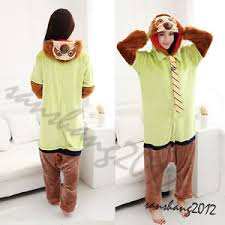 Sloth Animal Halloween Costume Zootopia Sloth Flash Cosplay Animal Kigurumi Pajama Pyjamas