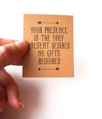 wedding quotes pdf your presence is the only present desired no gifts invitation