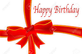 happy birthday ribbon a birthday tag with a ribbon and bow the text happy birthday