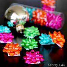 mini gift bow ornament hometalk