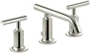 leaky bathroom faucet kohler k 14410 4 bn purist widespread lavatory faucet with low
