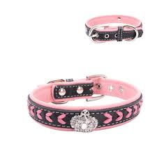 Durable Hand make Strip Leather Dog Collar Ring Beautiful Shining