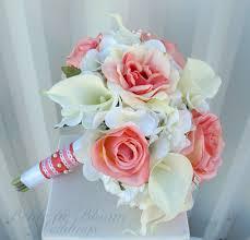 wedding bouquet coral calla wedding bouquet in bloom