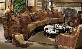 Sectional Sofa With Ottoman 01 Western Furniture Custom Sectional Sofa Chairs Hair Hide Ottoman