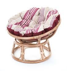 Round Chair Cushions Decorating Rattan Papasan Chair With Floral Padded Papasan Chair