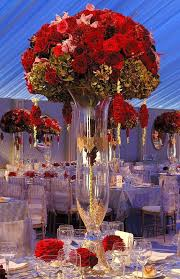 outstanding flower arrangement for wedding reception table