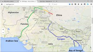 China River Map by Ganges River On A Map X X Us 2017