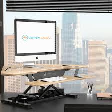 versadesk power pro corner standing desk converter