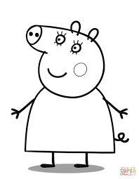 mummy pig cartoon coloring page cartoon cute peppa pig
