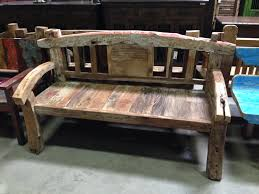 rustic and antique benches diego reclaimed bench