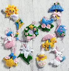 bucilla felt applique embroidery kit gnome ornaments set of 6