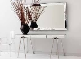 entrance table and mirror quartz walnut mirrored console table customer amys office