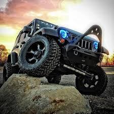jeep wrangler blue headlights 07 15 jeep wrangler blue plasma oracle halo headlight fog light