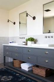 Blue Bathroom Vanity Cabinet Amber Interiors Before After Client Oh Hi Ojai