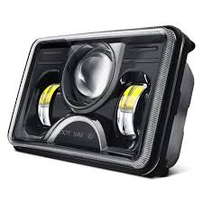 lumen sbf045xx blk 4x6 rectangular black projector led headlights