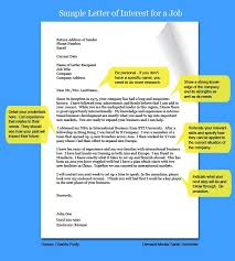 awesome collection of how to write a letter of interest for job