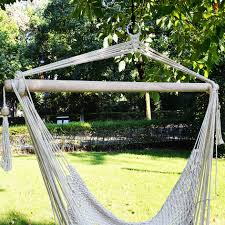 Tree Hanging Hammock Chair Tree Swing Cotton Hammock Chair Seat Patio Porch Garden Outdoor