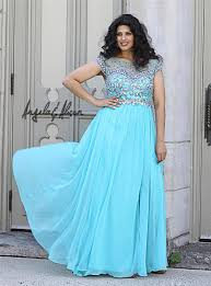 Cheap Clothes For Plus Size Ladies 2014 Plus Size Prom Dresses Sparkle Shining Beaded Bodice Sheer