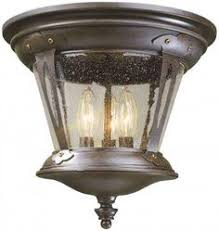 Outdoor Ceiling Lights For Porch by Kichler Tournai Two Light Textured Black Outdoor Flush Mount