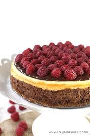 chocolate raspberry dessert raspberry chocolate ganache cheesecake eazy peazy mealz