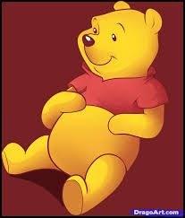 draw pooh bear step step disney characters cartoons
