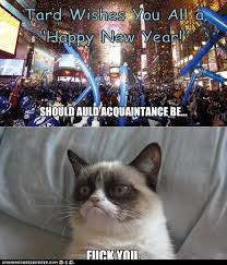 Grumpy Cat New Years Meme - tard s wishes for the new year grumpy cat know your meme