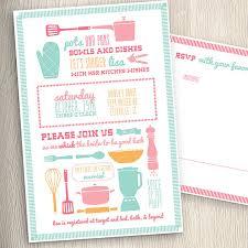 etsy wedding shower invitations kitchen cooking theme bridal wedding shower invitation with rsvp