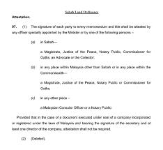 Power Of Attorney Signature by Commissioner For Oaths Pesuruhjaya Sumpah Moneylenders Hire