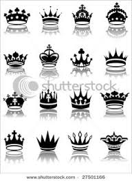 simple crowns black and white set crown and