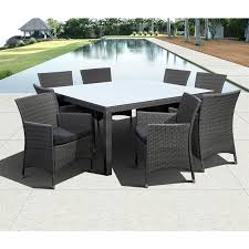 Rattan Patio Dining Set International Home Liberty 9 Wicker Patio Dining Set In Gray