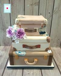 white vintage suitcase a cake course from paul bradford