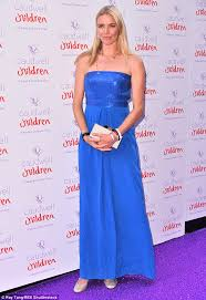 jodie kidd amps up the glamour in strapless dress at london