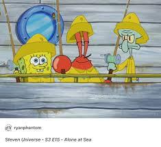 spongebob is steven mr krabs is greg squidward is lapis and