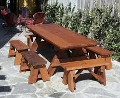 Plans For A Picnic Table With Separate Benches by How To Build A Picnic Table With Separate Benches Home Design