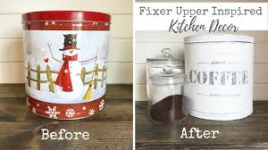 fixer upper inspired kitchen decor vintage coffee tin youtube