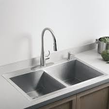 Vault NA Stainless Steel Double Bowl Kitchen Sink - Kohler double kitchen sink