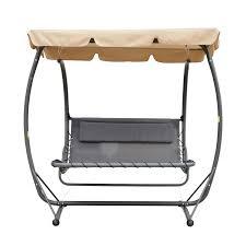 Double Swing Aosom Outsunny Double Chaise Lounge Chair Hammock Swing W