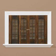 home depot wood shutters interior traditional real wood walnut interior shutter price varies by